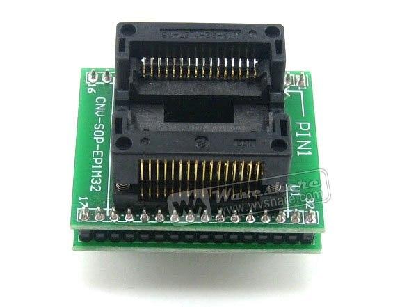 SO32 SOIC32 SOP32 TO DIP32 (B) OTS-32-1.27-16 Adapter Enplas IC Test Socket 1.27mm Pitch 11.25mm Width fshh qfn32 to dip32 programmer adapter wson32 udfn32 mlf32 ic test socket size 3 2mmx13 2mm pin pitch 1 27mm