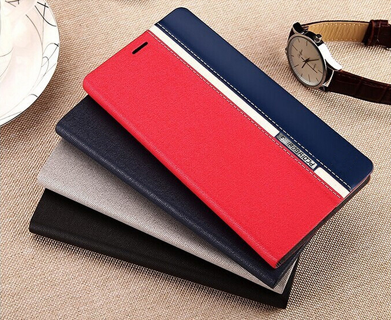 Luxury Book Stand PU Leather For Huawei Y6 Pro 2017 Phone Back Cover with Card Slots Wallet Holder touch feel