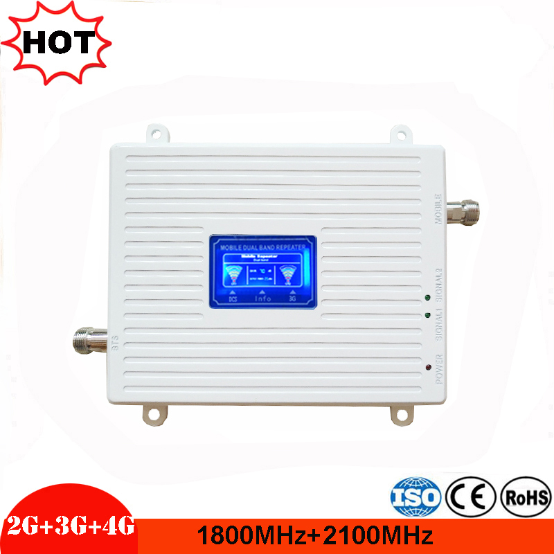 Special Offer! Smart DUAL BAND 2G3G4G 1800/2100 Cellular Signal Booster Mobile Phone Repeater Cellular Amplifier 1800 2100