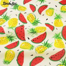 Booksew Cotton Poplin Fabric Pineapple And Watermelon Quilting Clothing Dress Bedding Home Decoration Pillows Crafts Shirt Dolls(China)