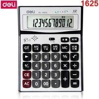 RedStar Deli DL 1625 12 Digits Large Screen Talking Calculator Human Pronunciation Matel Panel Calculator
