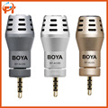 BOYA BY-A100 BY A100 3.5mm TRRS Connection Mini  Directional Condenser Microphone for iPhone/iPad/iPod Touch for video audio