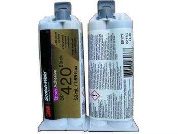 Colle DP420 noire haute température 3M 2:1 dp420 | Adhésif structurel flexible époxy à deux composants 50ML