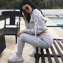 Gagaopt 2016 Tracksuit Set Women Causal 2 Piece Set Pullover And Trouser Woman Sportsuits Autumn Winter Thicked Drawstrinig Set