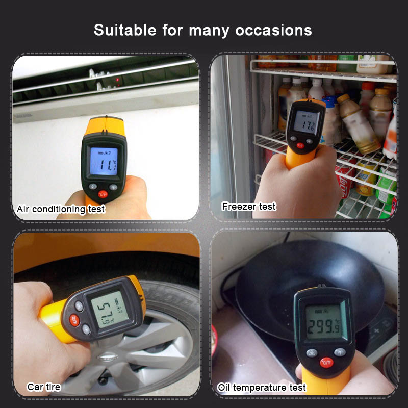 Non-Contact LCD IR Infrared Digital Temperature Measuring Ths