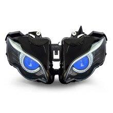 Kt scheinwerfer für honda cbr1000rr 2008-2011 led eagle eye blau dämon auge motorrad hid projector montage 2009 2010