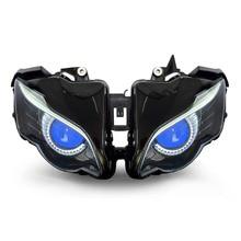 Kt faro para honda cbr1000rr 2008-2011 led eagle eye blue demon ojos motocicleta hid proyector de montaje 2009 2010