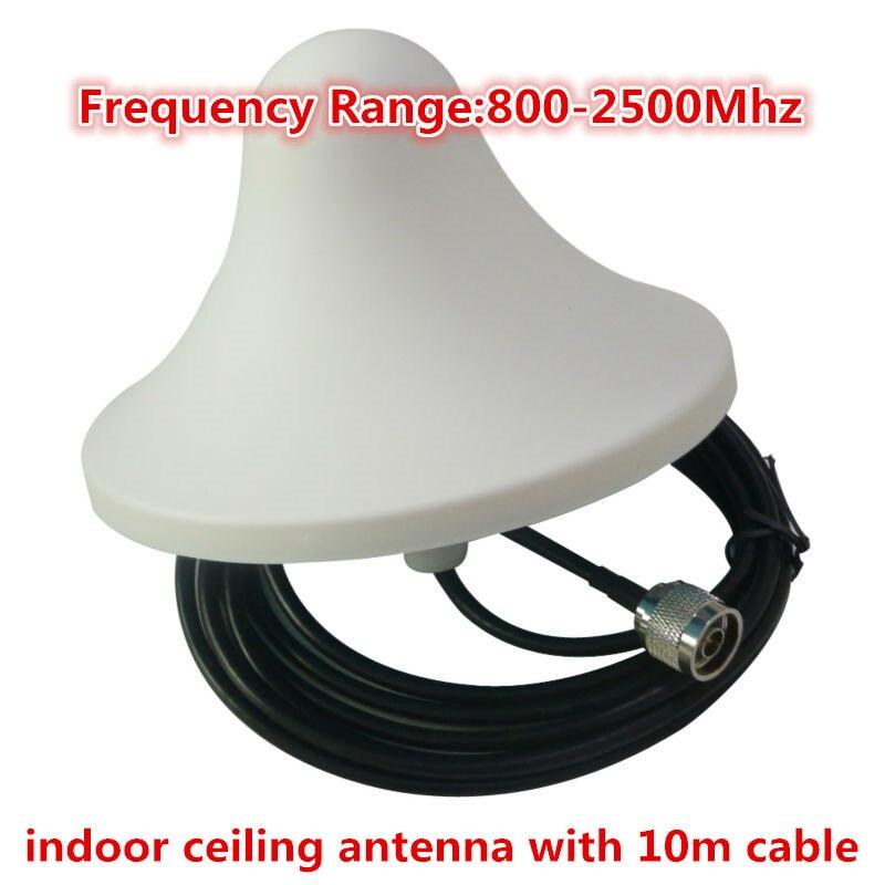 Cep telefonları ve Telekomünikasyon Ürünleri'ten Sinyal Arttırıcılar'de 800 2500MHz Omni yönlü dahili anten N erkek konnektör ile 10m kablo için gsm 3g cdma dcs cep telefonu sinyal güçlendirici title=