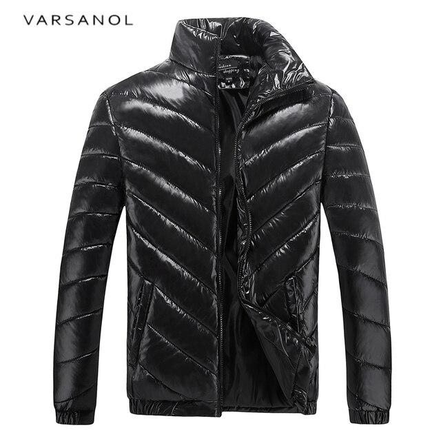Varsanol Casual Parkas Men Warm Winter Cotton Jackets Slim Long Sleeve Solid Parka 2017 Brand Clothing Plus Size Outwear 2017new