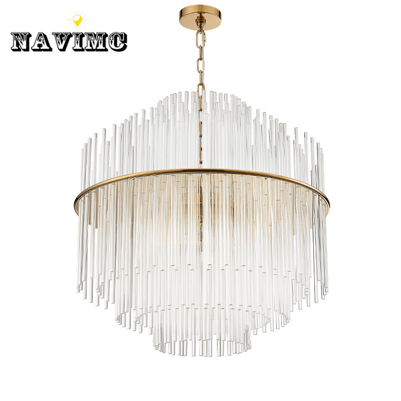 Modern Led k9 Crystal Bar Pendant Light for Dining Room Restaurant Hotel Hall Creative Hanging Pendant Lamp Post Modern Lamp купить в Москве 2019