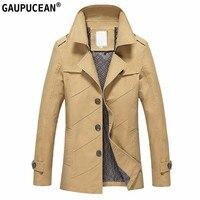 100% Cotone Uomini Giacca Primavera Autunno Inverno Nuovo Modello da Uomo cappotto Cachi Rosso Nero Navy Blue Stripe Monopetto Uomo giacche