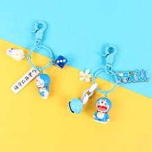 Doraemon 3d stereoscopic cartoon Keychain cute anime key chain Women Bag Charm Keyring Girls Men Key Chain kid toys