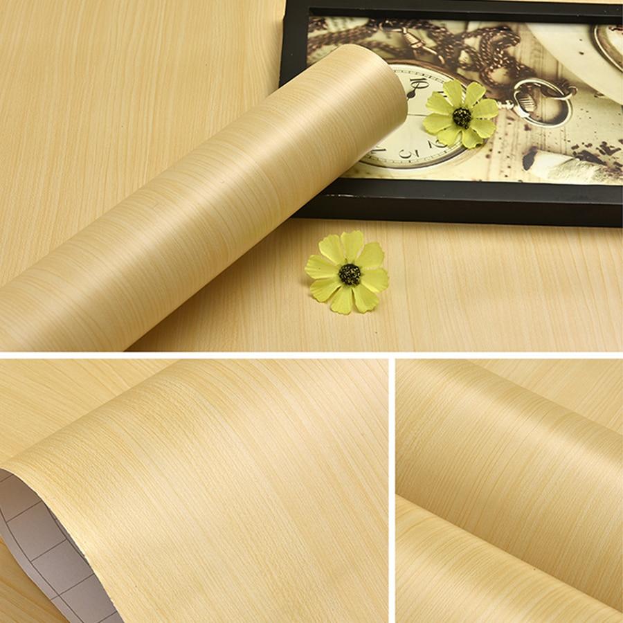 3M /5M Modern Wood Grain self adhesive Vinyl Wallpaper Furniture Refurbished Decorative film Kitchen Door Desktop Wall Stickers