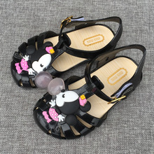 2017 new children's shoes girls sandals fashion jelly cute cartoon casual sandals