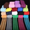 2017 новое поступление, разноцветная красивая кружевная лента 5 ярдов, ширина 45 мм, для самостоятельного шитья волос ребенка, украшение для св...