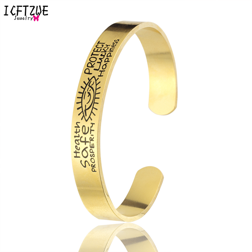 ICFTZWE Подвески богемный золотые украшения Цвет Evil Eye здоровья безопасно процветания Lucky счастье манжеты Браслеты Браслет Bijoux