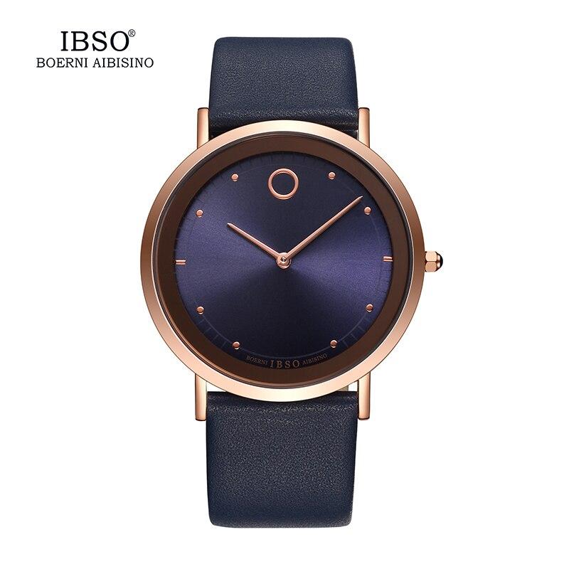 2019 IBSO Ultra-tenká Dial Pánská hodinky Top značka Luxusní - Pánské hodinky