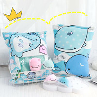 candice guo! Super cute plush toy lovely one bag sea animal smiling whale soft doll pocket cushion birthday Christmas gift 1pc
