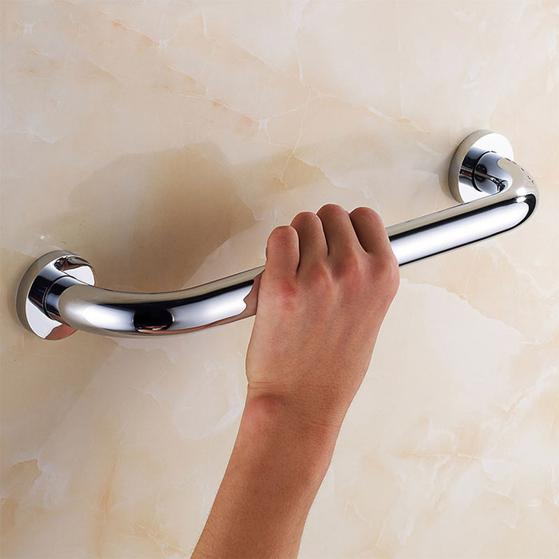 304 stainless steel bath safety support tool silver polished bathroom hardware accessories shower room safety helper towel rack