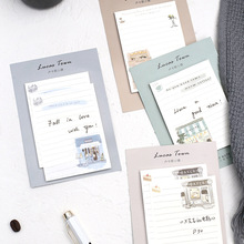 Buy 4 pcs Lucas town sticky note Vintage Bakery Coffee shop memo pad stickers Book marker Stationery Office School supplies A6144 directly from merchant!
