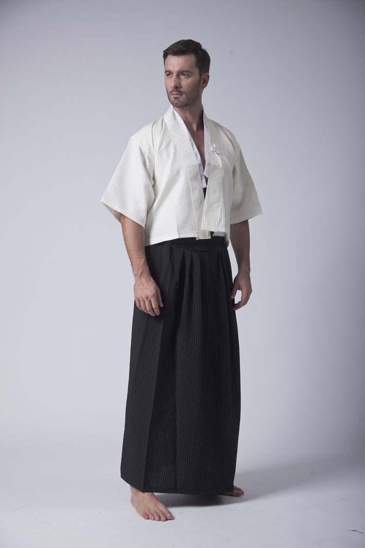 b60825edc Hot Sale New Style Black / White Men's Yukata Japanese Haori Kimono New In  Stock-in Asia & Pacific Islands Clothing from Novelty & Special Use on ...