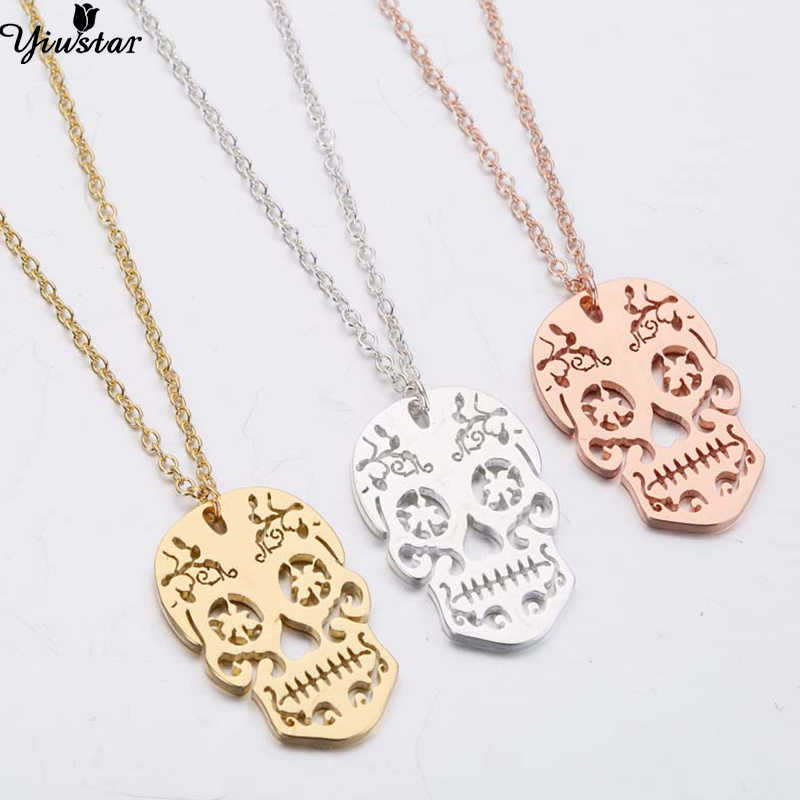 Yiustar Mysterious Skull Necklaces Pendants Undead Meeting Gift Whether It is a Beggar or a King The Final Destination is Death