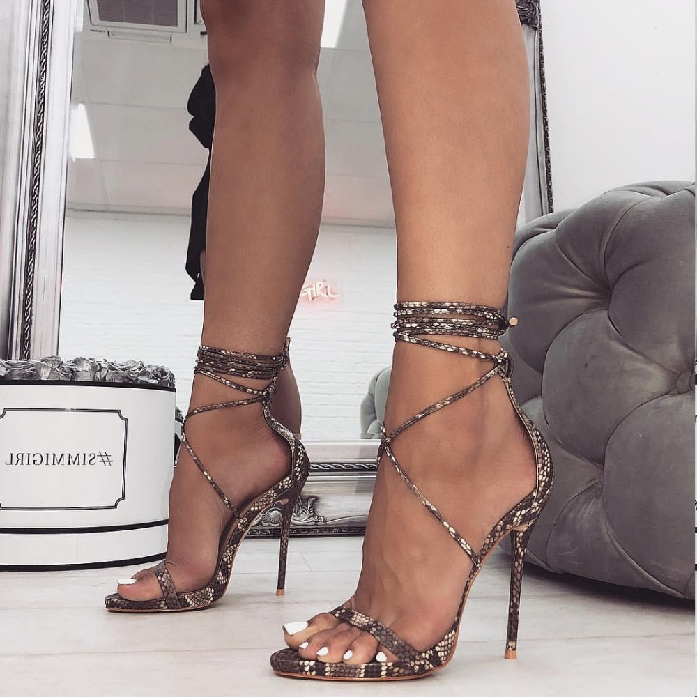 af842ddef1e US $15.08 2019 Roman shoes with super high heels, cross straps, sexy ...
