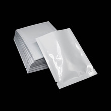 6*9cm 200pcs/lot White Mini Flat Open Top Mylar Foil Packaging Bag Vacuum Food Pouches Heat Sealable Bulk Storage
