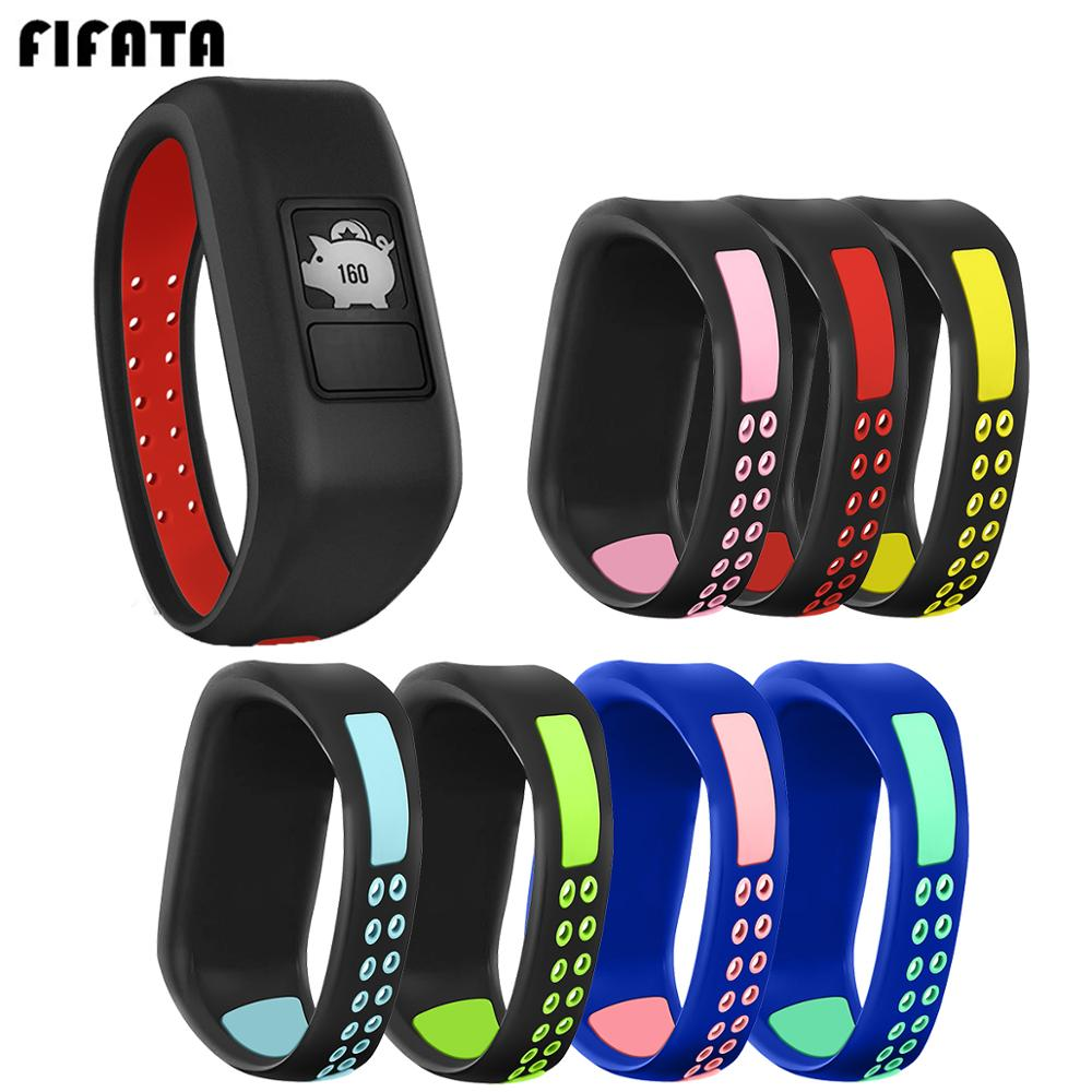 FIFATA Colorful Silicone Strap For Garmin Vivofit JR/JR2/Vivofit 3 Smart Watch Replace Wristband Accessories For Garmin JR Kids