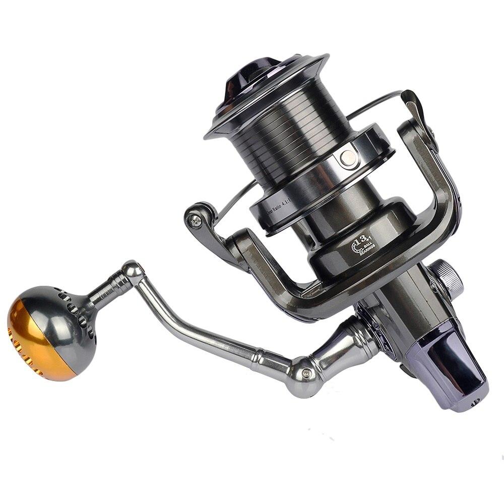 Haute qualité 13 + 1BB filature pêche bobine mer pêche métal eau salée poisson roue carpe pêche 8000-10000 série