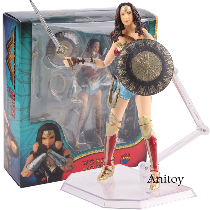 DC Comics Toys Wonder Woman Figure MAFEX Action Figure MEDICOM TOY No.048 PVC Wonder Woman Comic Toys Collectible Model Doll