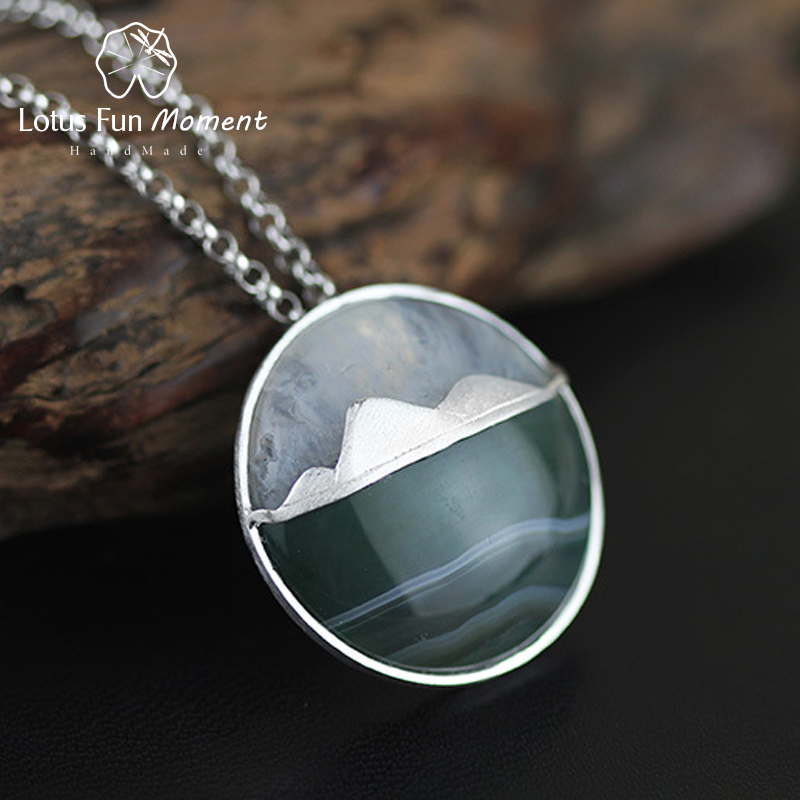 Lotus Fun Moment Real 925 Sterling Silver Natural Fashion Jewelry Creative Mountain Design Pendant without Necklace for Women lotus fun moment real 925 sterling silver designer fashion jewelry fashion love heart tassel pendant without necklace for women