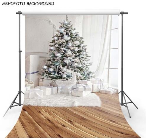 5X7FT christmas backdrop Christmas Photo Background Vinyl Children Backgrounds Photo Studio Props Ornaments ST-717 5x7ft 150x210cm vinyl christmas theme picture cloth custom photography background studio props stone floor flooring gift sled