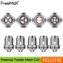 5Pcs/Lot Original Freemax TWISTER Fireluke 2/Fireluke Mesh Coil X1/X2/X3 SS316 Replacement Core Head For Twister 80w Vape Kit