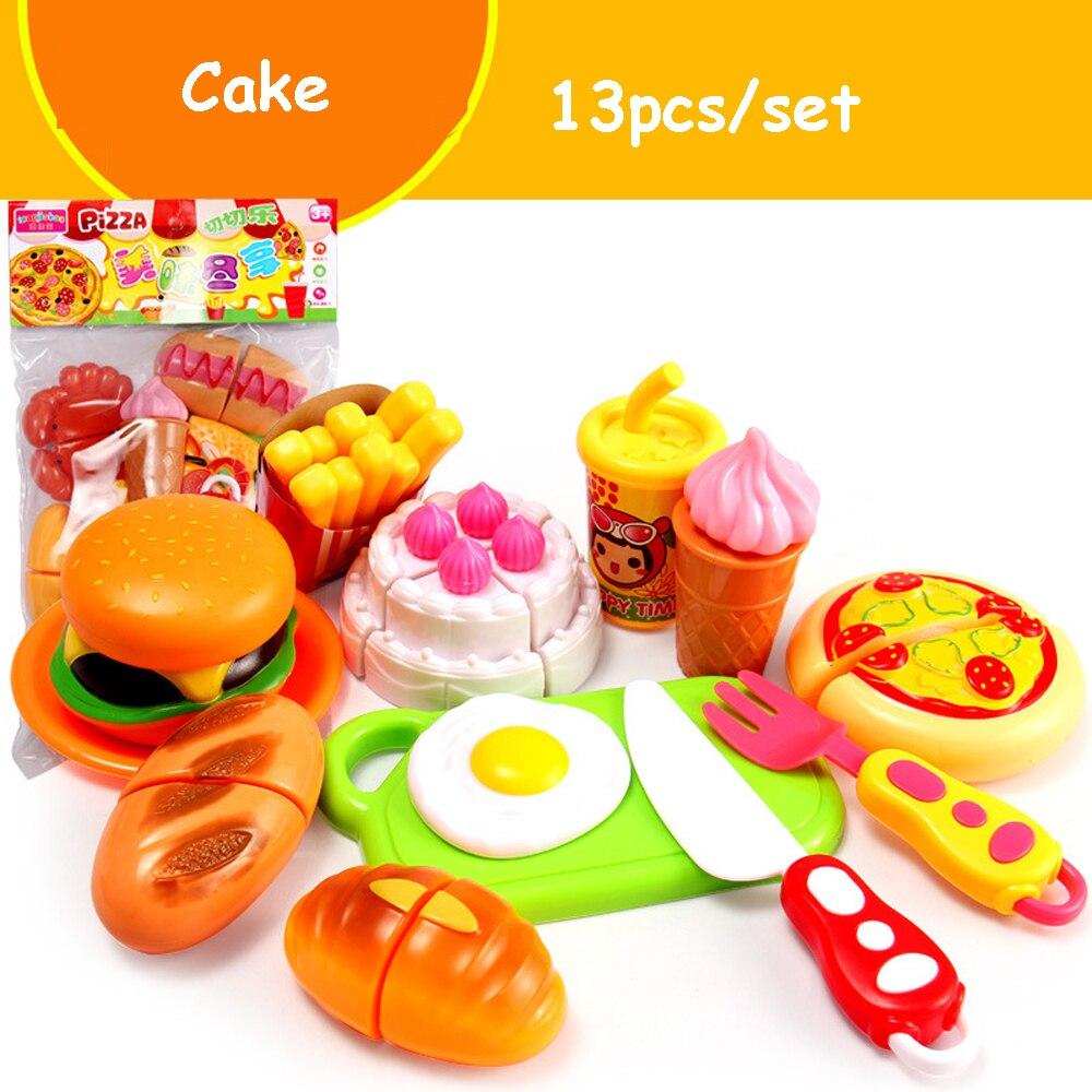 Nourriture Cuisine Fruits Légumes /& Burger enfants cuisine Pretend Play Set 28 pieces