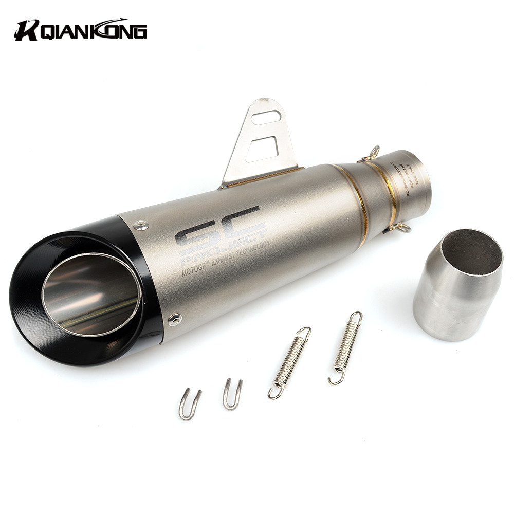 51mm Universal Modified Motorcycle Exhaust Pipe Muffler FOR Suzuki V-Strom 1000 C109RT GSX-S1000 ABS GSX1250FA YAMAHA V-MAX1700 suzuki dl650a v strom б у
