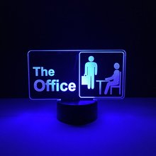 Cool Kids Led Nightlight The Office Night light for Childrens Bedroom Decoration Novetly Gift Dropshipping Baby Lamp