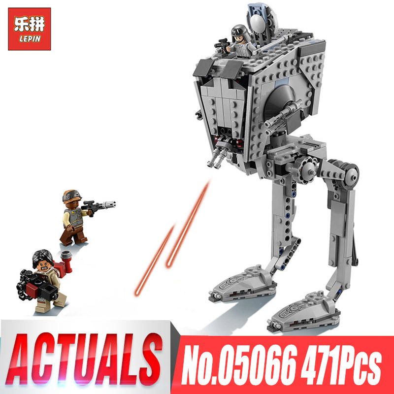 цена на 464Pcs Lepin 05066 Wars on Star Series The Rogue One AT set ST Walker Educational Bricks Toys Compatible Legoingly 75153 Gifts