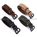 20 22 24mm Crazy Horse Leather Zulu Army Watch Strap Men Black Green Yellow Brown Black Buckle Watchband
