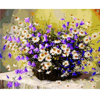 Daisy Flower Basket Diy Digital Oil Painting By Numbers Home Decoration Paint On Canvas Gift Craft