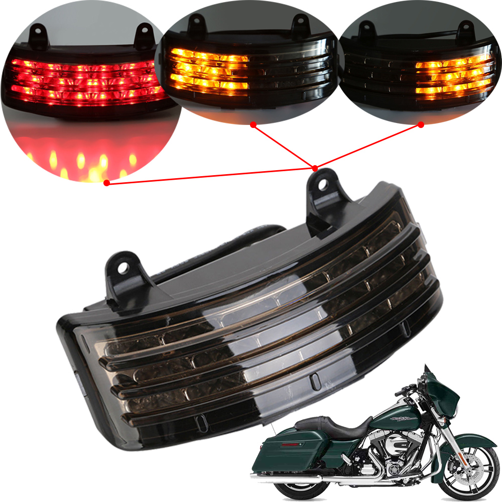 For Harley Touring 2006-2009 Street Glide FLHX EFI FLHXI Motorcycle Fender Rear LED Running Light Tail Brake Light Turn Signal