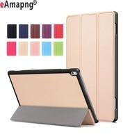 PU Leather Case For Lenovo Tab 4 10 Plus 10 1 Inch Folding Folio Magnetic Sleep