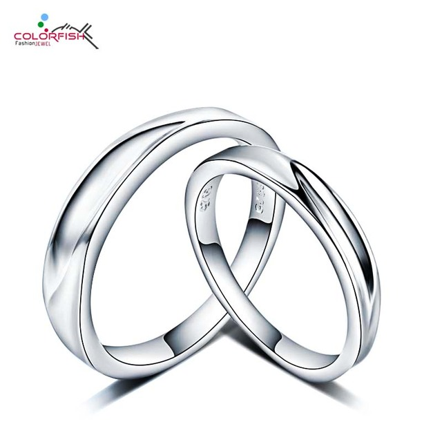 COLORFISH Couple Engagement Wedding Rings For Pair For Women And