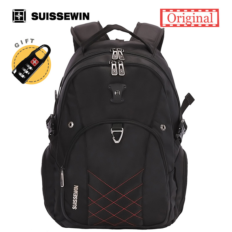 Suissewin Laptop Backpack Male Brand Men's Backpack 13.3 14 15 inches Computer Backpack School Bagpack Sac a dos