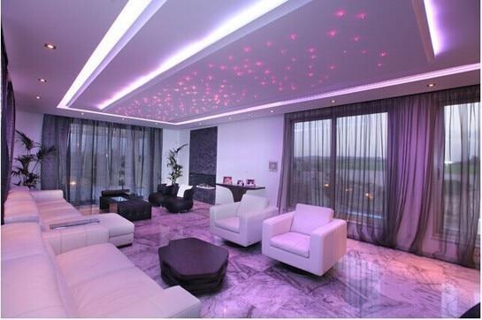 DIY RGBW LED plastik Fiber Optik Satar Tavan Dəsti İşıq 150pcs * - Ticarət işıqlandırması - Fotoqrafiya 5