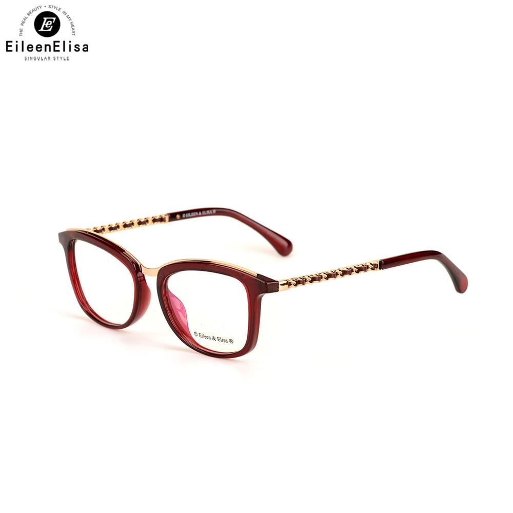 EE Acetate Eyeglasses Frame Women Prescription Eyewear Designer Brand Clear Fashion Glasses Optical Myopia Eyewear Frame
