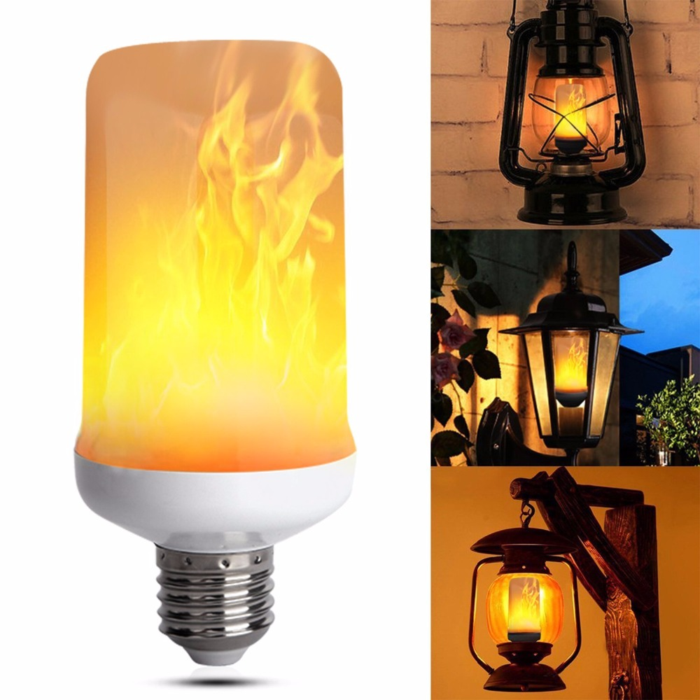 BB SPEAKER Led Flame Effect Fire Light Bulbs AC85V-265V E27 E26 Simulation flickering decorative lights led flame light fire сумка just cavalli