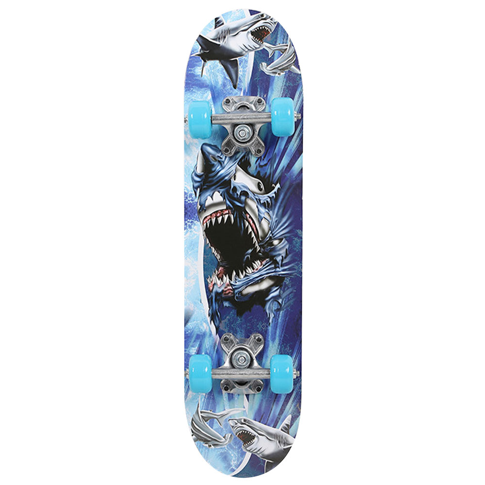 Image 2 - Maple Wood Four Wheel Scooter Deck Skateboard Extreme Sports Popular Complete Skateboard Single Warping Slide Skate Board-in Skate Board from Sports & Entertainment