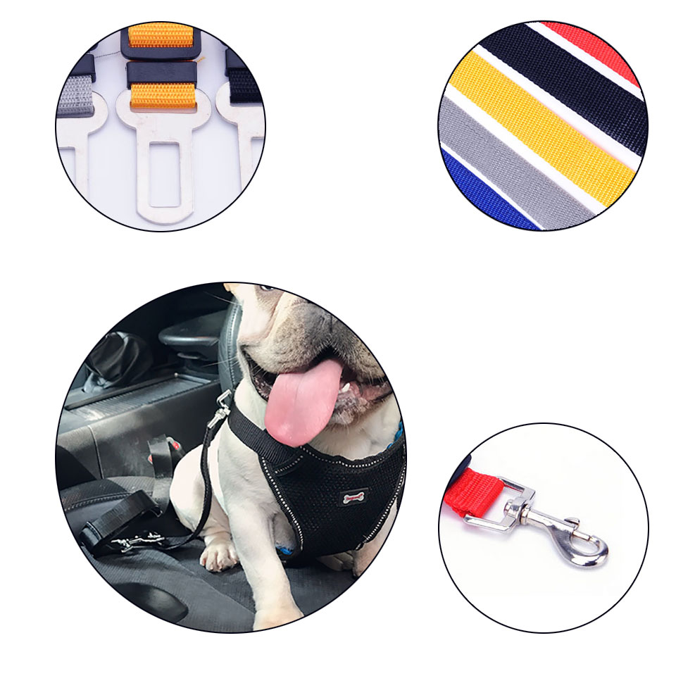 Adjustable Pet Dog Seat Nylon Belt Zinc Harness Leash Clip Keep Your Pet Dont Trouble You When You Are Driving