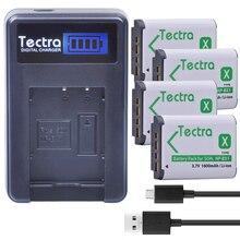 Tectra 4 x NP-BX1 NP BX1 NPBX1 Li-ion Camera Bateria + LCD USB Charger for Sony DSC-RX100 RX1 HDR-AS15 AS10 HX300 WX300